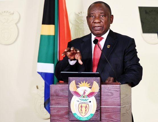 President Cyril Ramaphosa addressing the nation, announcing his cabinet for the South African 6th administration at the Union Buildings. Picture: Siyabulela Duda