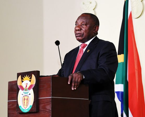 President Cyril Ramaphosa addressing the nation while announcing his cabinet for the South African 6th administration at the Union Buildings. Picture: Siyabulela Duda