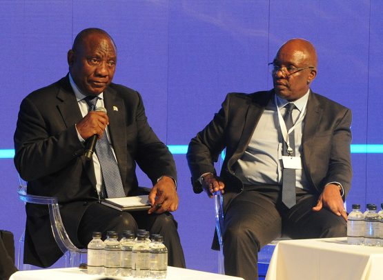 President Cyril Ramaphosa (left) and Sipho Pityana (right). There have been calls for a new agenda for Nedlac. Image: Siyabulela Duda