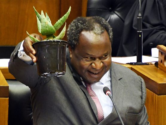 Tito Mboweni during the 2020 Budget Speech in Parliament in Cape Town. Image: Siyabulela Duda