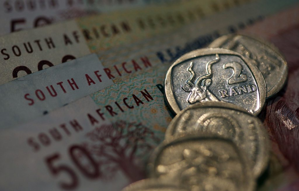 Rand steady ahead of Fed minutes, stocks down