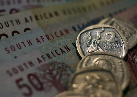 Rand weaker, stocks hit three-and-a-half-month high