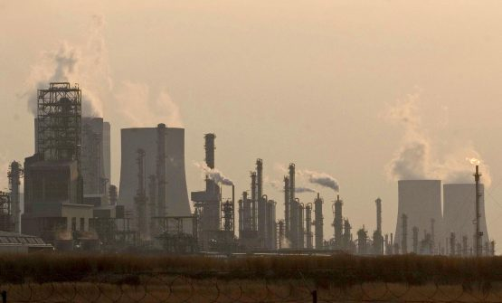 Cooling towers emit steam at the Sasol Sasolburg Secunda plant in the eastern highlands of Mpumalanga. Image: Bloomberg