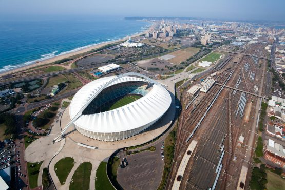 Raubex and WBHO are in the black while Aveng, Basil Read, Group Five, M&R and Stefanutti Stocks seem to be hoping for payment holidays. Durban's Moses Mabhida Stadium, one of the stadia whose construction was fast-tracked ahead of the 2010 World Cup. Image: Shutterstock