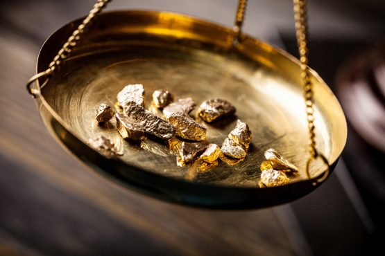Gold prices up 13% this year to above $1 700/oz. Image: Shutterstock