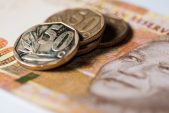 Rand falls after poor data, stocks rise