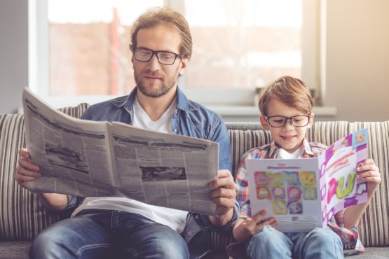 Dads could make Father's Day count a whole lot more if they use the day as an opportunity to educate their children about things they don't usually get much guidance on - like savings and retirement. Picture: Shutterstock