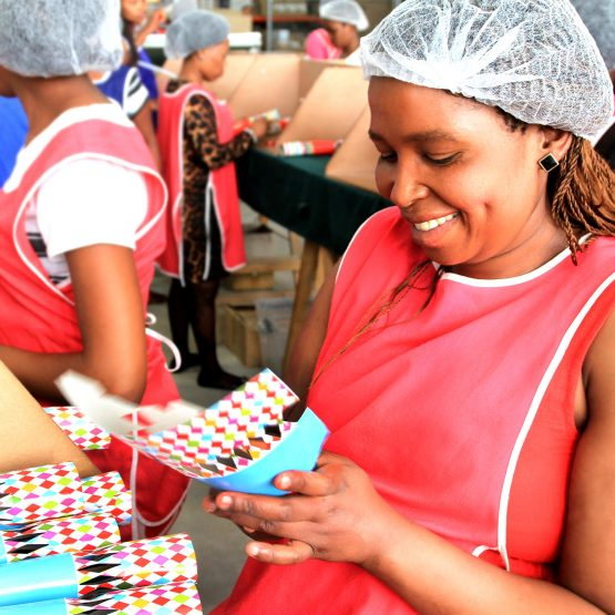 Workers at Glenart's Christmas cracker factory, which supplies most of SA's major retailers and also exports to Europe. Image: Supplied