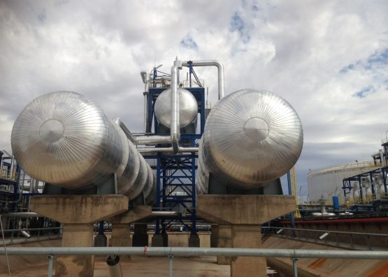 The two high temperature fluid overflow and expansion vehicles were built in Johannesburg.