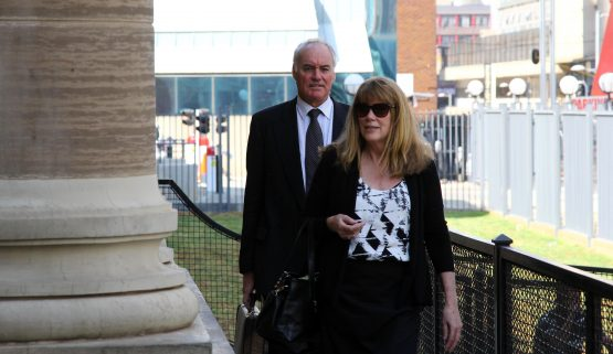 Tigon accused Gary Porritt and Sue Bennett arrive at court in September last year. Picture: Moneyweb