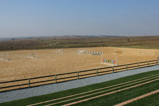 A recently built equestrian center at Steyn City.