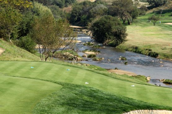 Part of the 18-hole Nicklaus-designed golf course at Steyn City.