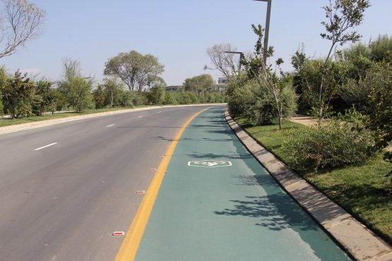 Cycling lanes are dotted around Steyn City.
