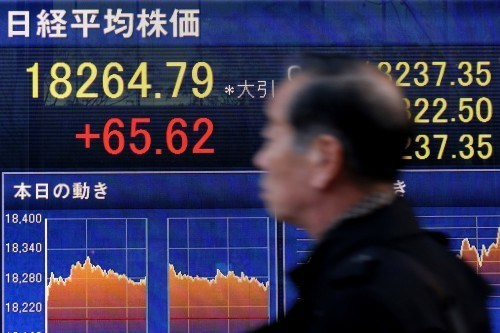 US stock futures down 1.3%, Nikkei falls 1.8%. Picture: