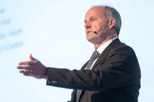 Capitec CEO, Gerrie Fourie addresses shareholders at the bank's AGM on Friday.