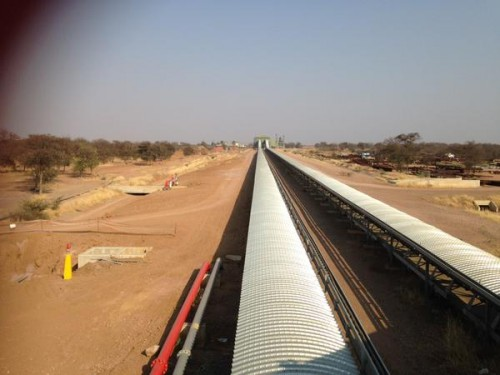 Conveyor system transporting as to ash yard. No buyer for Medupi ash - Prinsloo.