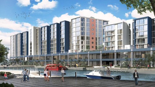 The Yacht Club is a mixed-use development near the V&A Waterfront.