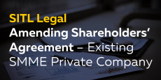 Amending Shareholders' Agreement – Existing SMME Private Company