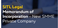 Memorandum of Incorporation to form a new SMME Private Company