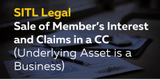 Sale of Member's Interest and Claims in a CC (Underlying Asset is a Business)