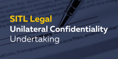 Unilateral Confidentiality Undertaking