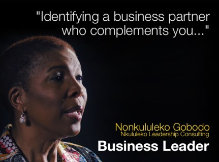 Business Leadership: Identifying a business partner who complements you