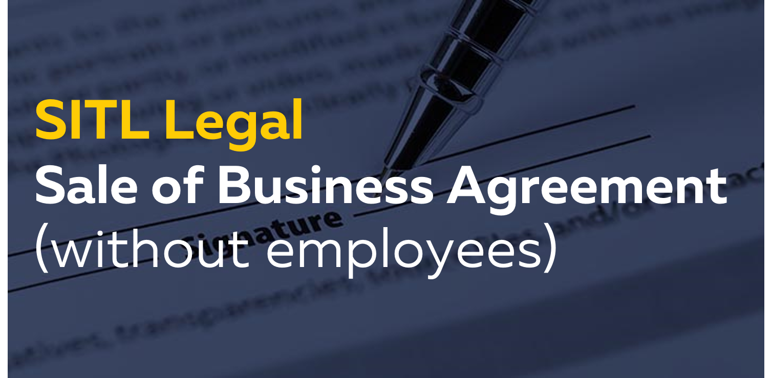 Sale Of A Business Agreement Without Employees Moneyweb