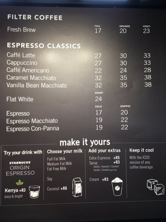 Thoughts On Starbucks Pricing In South Africa Moneyweb