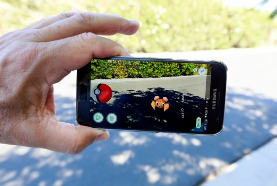 Augmented reality is a feature of popular game Pokemon Go.  Picture: Sam Mircovich, Reuters