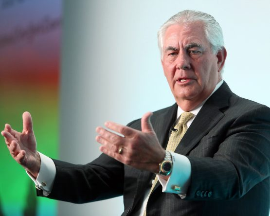 US President Donald Trump has fired US Secretary of State Rex Tillerson, and replaced him with CIA director Mike Pompeo. Picture: Bloomberg