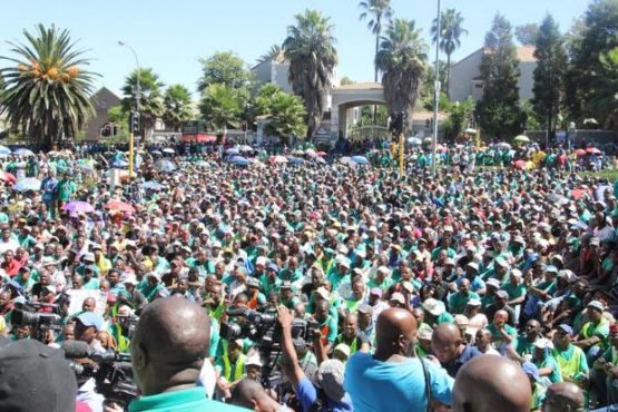 Amcu president Joseph Mathunjwa says the union will continue pursuing all avenues to avoid job losses in the mining sector. Picture: Moneyweb