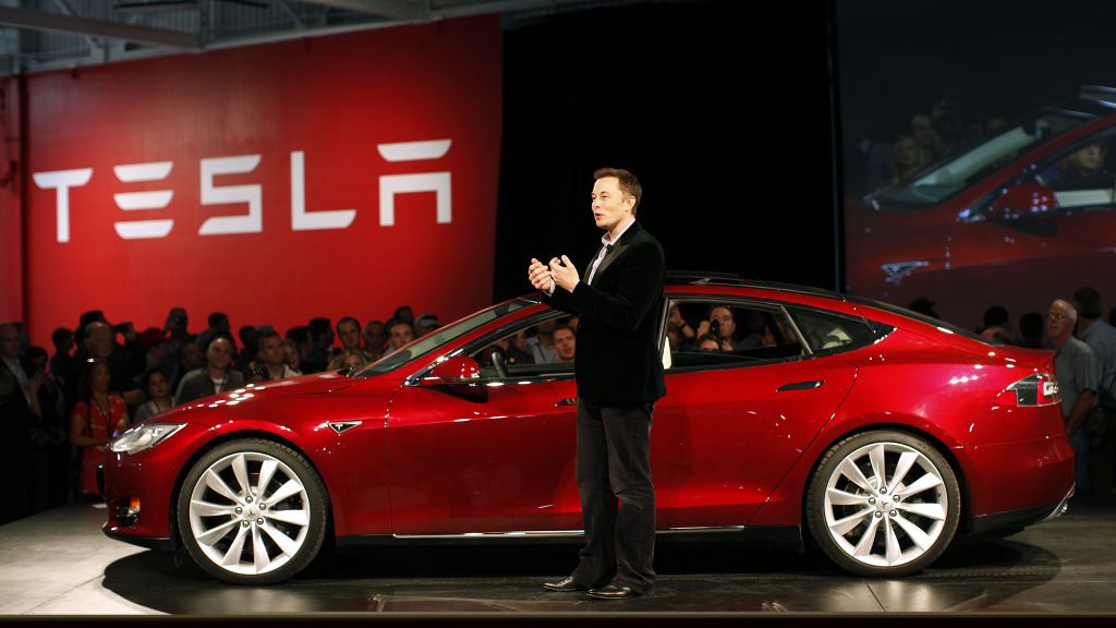 Tesla surges past $100bn market value