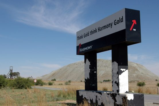 Harmony's headline earnings were hurt by a provision of R917 million before tax for a possible silicosis settlement. Picture: Bloomberg