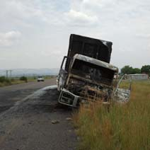Trucking industry under threat after latest reports of torched vehicles