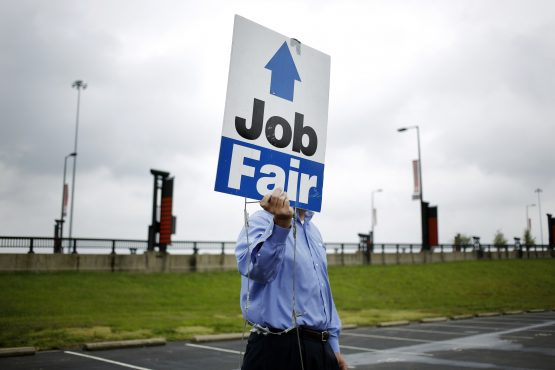 US weekly jobless claims fall to lowest level in nearly 45 years. Picture: Bloomberg