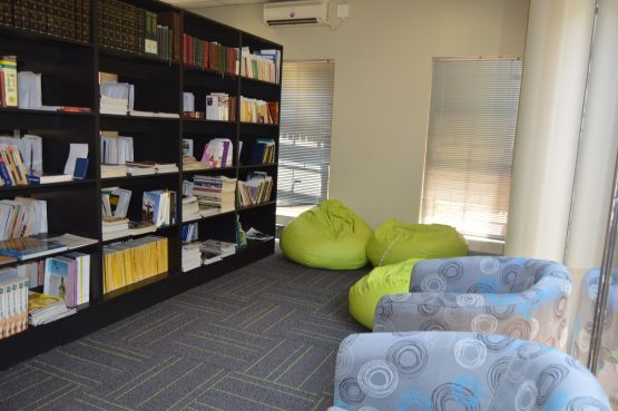 The improved library is now frequented by students, and Raizcorp regularly donates business books to it.
