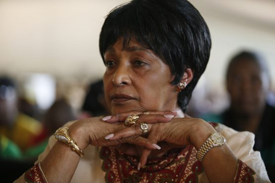 80 year old Nelson Mandela's former wife admitted in a hospital