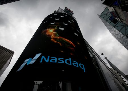 Nasdaq hits record high as US economy shows signs of rebound
