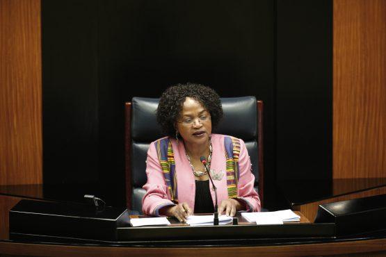 Parliamentary speaker Baleka Mbete
