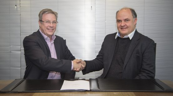 Brian Riley (CEO, African Bank) and Nicolaas Kruger (CEO, MMI)