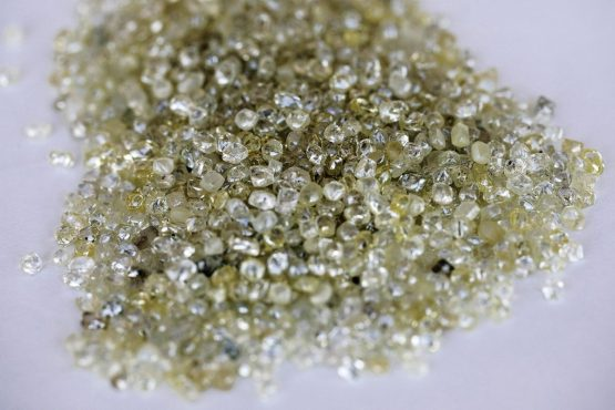 Rough diamonds before grading at the Namibian Diamond Trading Co. While not the biggest the maine gems have few flaws. The Orange River deposited the diamonds on the ocean floor from central southern Africa millions of years ago. Picture: Simon Dawson/Bloomberg