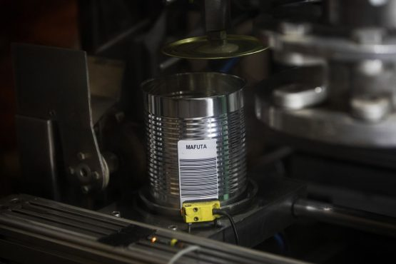 Diamonds are dropped by machine into sealed barcoded cans without ever being touched by human hands. A series of vibrating racks and rotating drums crush the sediment into a series of increasingly smaller stones. The whole process is automated. Picture: Simon Dawson/Bloomberg