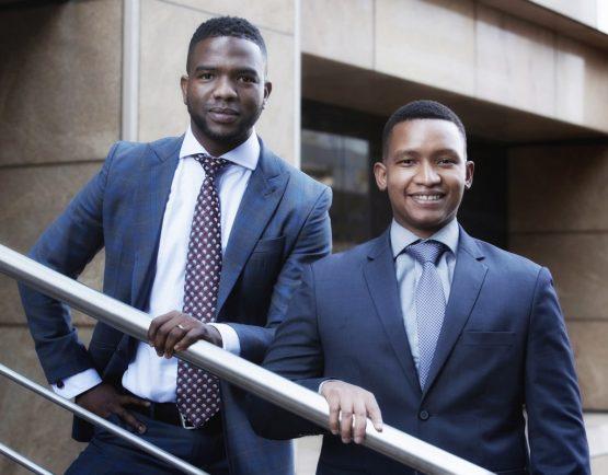 Kwabena Malgas, senior transactor in RMB's infrastructure finance team, and Xolela Albert, senior transactors in RMB's principal investments team. Picture: Supplied