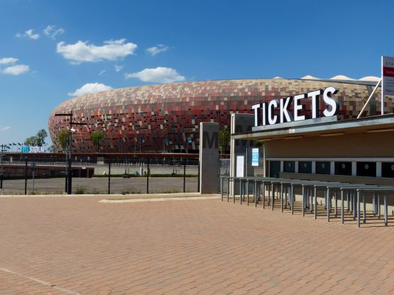 Johannesburg's FNB Stadium in Soweto, which was significantly overhauled for the World Cup and is the biggest stadium in South Africa. Image: Shutterstock