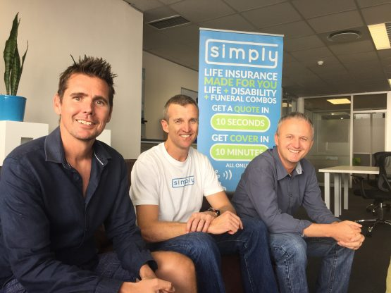 Simply founders Shaun Dippnall, Anthony Miller (CEO) and Simon Nicolson. Picture: Supplied