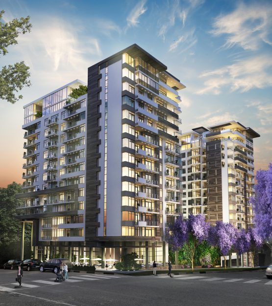 The Tyrwhitt artists impression. Renprop is delivering  200 apartments. Picture: Supplied