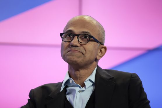 Microsoft CEO Satya Nadella, since being appointed, has helped the company release some key products, including one of Liuson's Visual Studio programs. Picture: Jason Alden, Bloomberg
