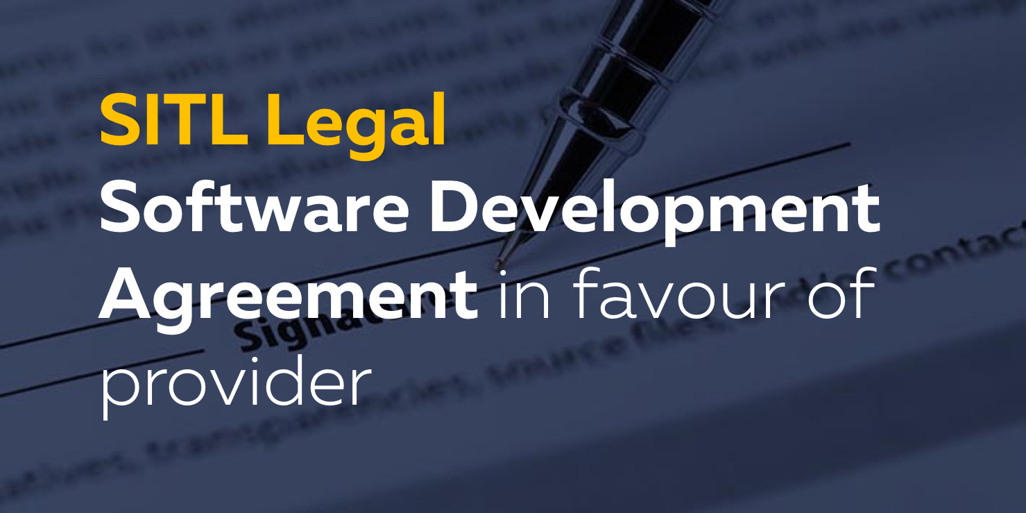 Software Development Agreement In Favour Of The Provider