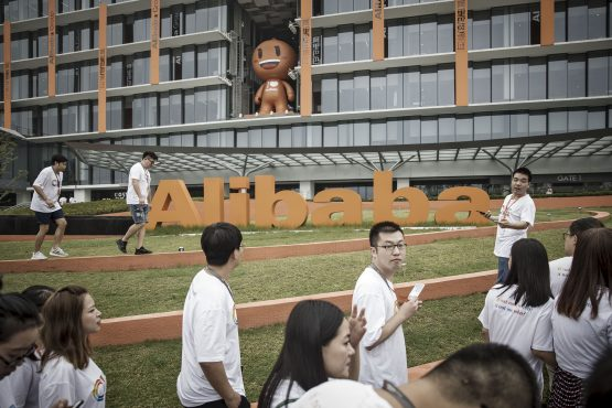 Alibaba's online sales climb on the back of sales promotions rolled out across e-commerce platforms. The online retailer is also tweaking product feeds to boost ad revenue and buying. Picture: Qilai Shen, Bloomberg