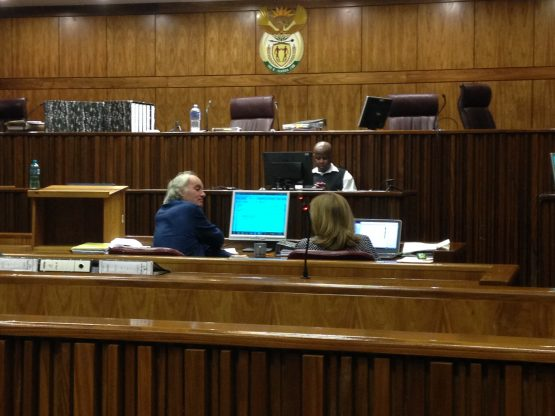 Tigon-accused Gary Porritt (left) and Sue Bennett (right) in court during November 2017. Picture: Moneyweb